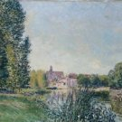 Moret, Loing River and Church, 1886 - Poster (24x32IN)