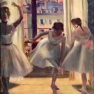 Three dancers in a practice room by Degas - Poster (24x32IN)