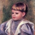 Portrait of a child (Philippe Gangnat) by Renoir - 30x40 IN Canvas