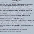 Vinteja charts of - Basic Politics - A3 Paper Print