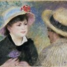Boating Couple (said to be Aline Charigot and Renoir), 1881 - 24x18 IN Poster