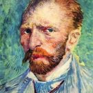 Self-portrait with light blue tie by Van Gogh - 30x40 IN Canvas