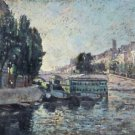 Banks of the Seine, Coal Unloading, 1871 - A3 Poster