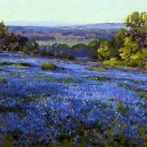 Bluebonnets, Late Afternoon, North of San Antonio, 1920 - A3 Poster