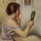 Gabrielle Holding a Mirror with a Portrait of Coco - A3 Poster