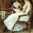 Mrs. Hassam and Her Sister, 1889 - 24x18 IN Poster