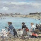 Laundresses at the Bank of the Touques, 1893 - Poster (24x32IN)
