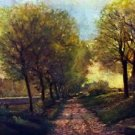 Lane near a small Town by Sisley - 24x18 IN Canvas