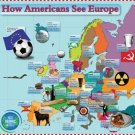 Vinteja charts of - How Americans See Europe - A3 Paper Print