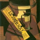 Fruit bowl, glass and newspaper by Juan Gris - 24x18 IN Poster