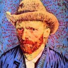 Self-portrait with a gray felt hat [2] by Van Gogh - A3 Poster