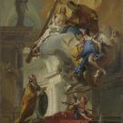 Giovanni Battista Tiepolo - A Vision of the Trinity - 24x18IN Canvas Painting