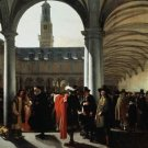 Courtyard of the Exchange in Amsterdam. 1653 - A3 Poster
