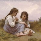 A Childhood Idyll 1900 - 24x32 IN Canvas