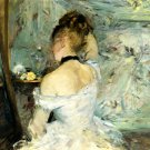 1880 Young woman with her toilet - A3 Poster