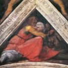 The ancestors of Christ - Family of King Asa by Michelangelo - 24x32 IN Canvas
