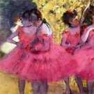 Dancers in pink between the scenes by Degas - 30x40 IN Canvas