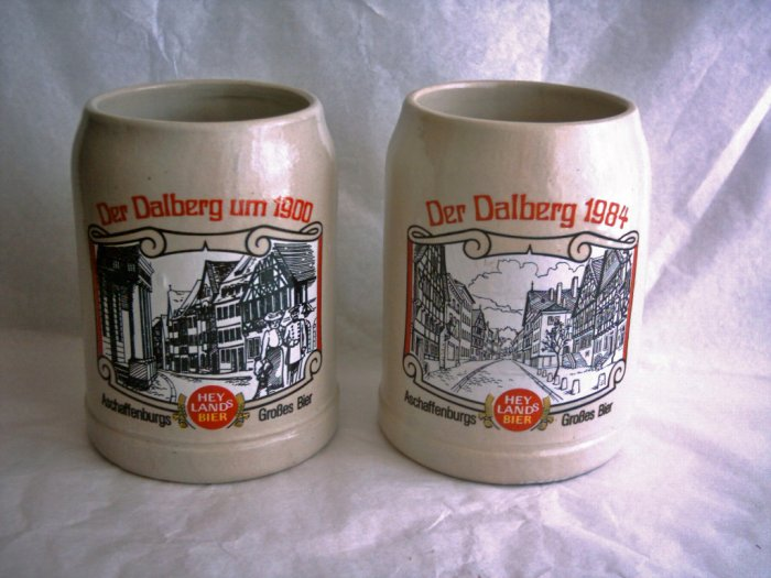 Collectible Krugs, Hey Lands Bier, Set of 2, Lot 2