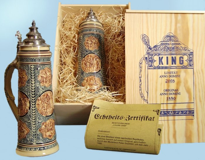 2008 King Werk Limited Edition Beer Stein with Collector's Case