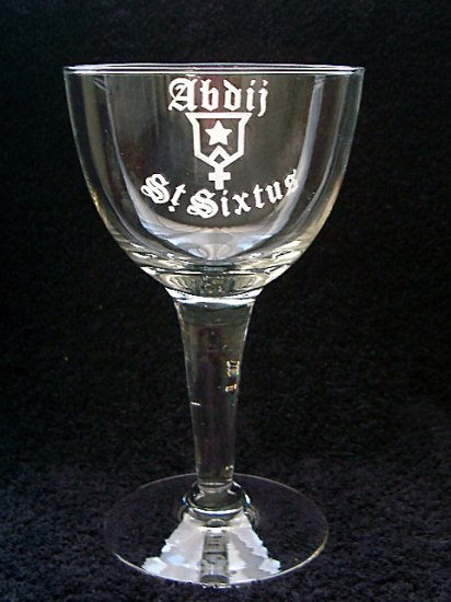 Abbey St. Sixtus Trappist Belgian Beer Glasses, Chalice, Set of 2