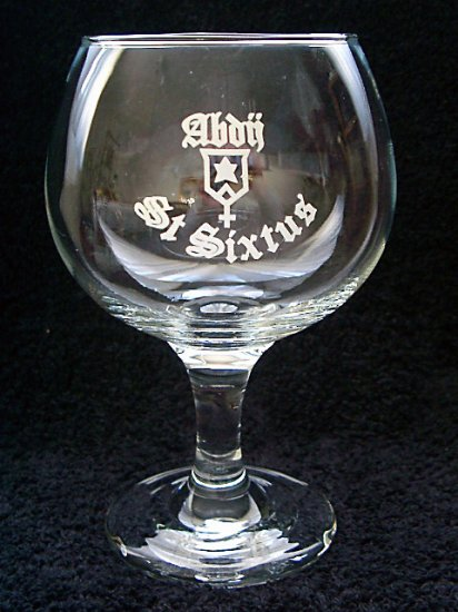 Abbey St. Sixtus Trappist Belgian Beer Glasses, Goblet, Set of 2