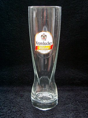 Krombacher Weissen German Beer Glasses, Set of 2