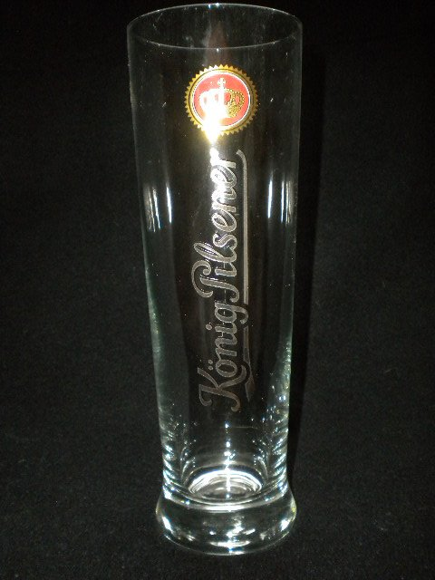 Konig-Pilsener German Beer Glass, Set of 2