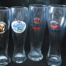 4 Assorted Weisse German Beer Glasses