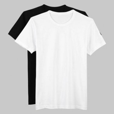 Plain Hip Hop rappers oversized tees t-shirts Black/ White size M to 4XL