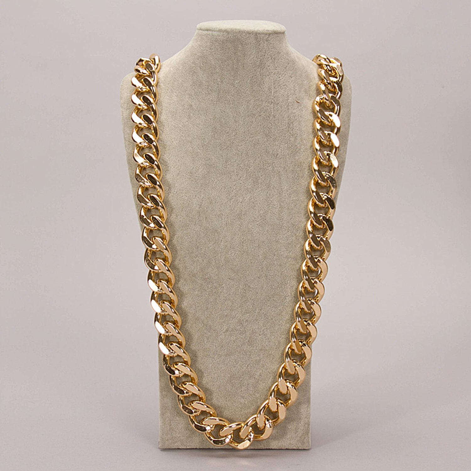 "Celebrity cuban franco Miami chain twisted ICED OUT gold plated 39"" mens necklace 25MM width"
