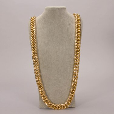 "Celebrity cuban franco Miami chain twisted ICED OUT gold plated 36"" mens necklace 20MM width"