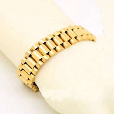 Celebrity HIP HOP 10MM/16mm width 3/5 beads rows wristband gold band bracelet