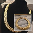 """Celebrity JAYZ HIP HOP bullets ammo snakeskin Gold chain 12 MM 20"""" necklace & bracelet set"""