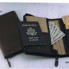 Sheridan Zippered Brown Leather Travel Ticket Case (56731)