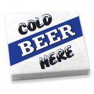 Beverage Napkins Cold Beer Here 20 napkins/pkg