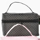 The Go Bag Personal Travel Bag  Black with White Polka Dots