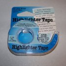 "Lee Highlighter Tape 3 Line Coverage  BLUE 1/2""   (13479)"