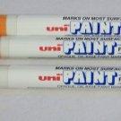 Uni-Paint Opaque Oil-Base Paint Marker  Fine Line  ORANGE  3pc  PX-21