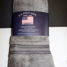 U.S. Polo Assn. Premium Zero Twist  Hand Towels 2pc Set  16 in x 27 in. GUNMETAL GRAY