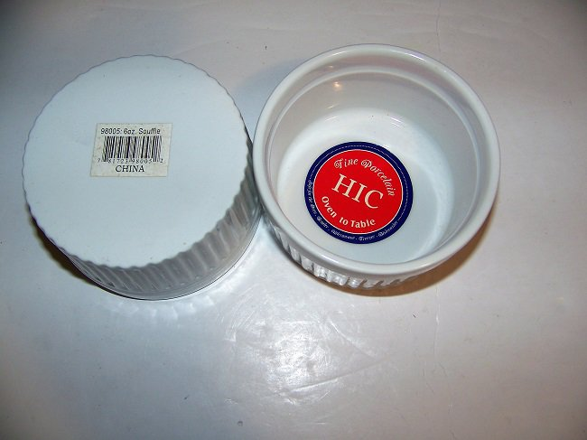 "Mrs. Anderson's  Souffle Ramekin Dish 3-1/2""  6oz   2pc  (98005)"