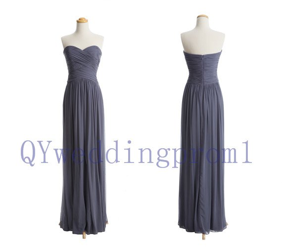 2014 New fashion long evening prom dress, simple chiffon PROM dress, cheap bridesmaid dresses