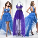 2015 New sexy Nail bead Asymmetrical evening dress, long PROM dress,long bridesmaid dresses