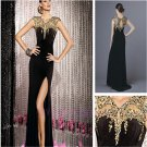2015 New custom Sexy Long Prom dress Ball Gown Evening Cocktail Dresses wedding gown