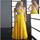 2015 New custom Chiffon Sexy Long Prom Dress Evening Formal Party Wedding Ball Gowns
