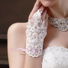 bride wedding beaded beaded lace gloves hook finger gloves wedding gloves new short section
