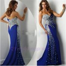 2015 New Sweetheart Mermaid Floor Length Satin Long Evening Dress