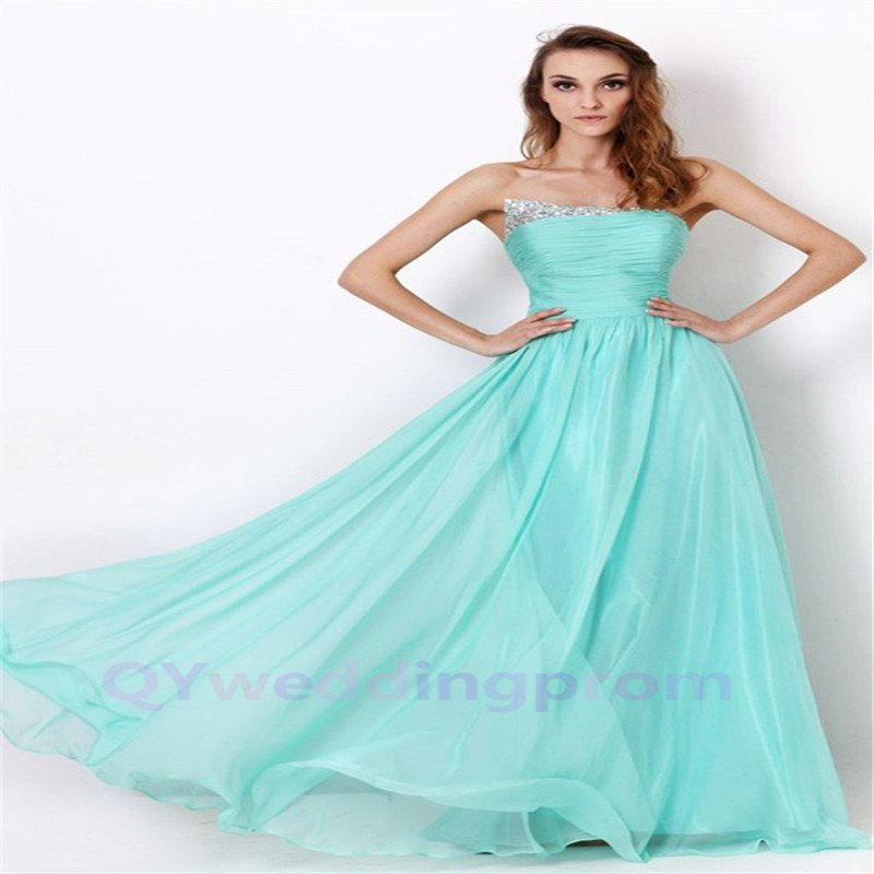 Custom made Dress for Elegant Mint formal Evening Gowns 2015 New Prom Dresses