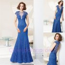 2015 New Custom made Appliqued Long Lace Mermaid Formal Prom Evening Dresses