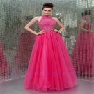 Custom made Long Dress for cut-out back tulle Evening Dresses 2015 Party Gowns