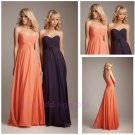 Simple Design Sweetheart Pleated Straight Chiffon Elegant Cheap Prom Dress 2015